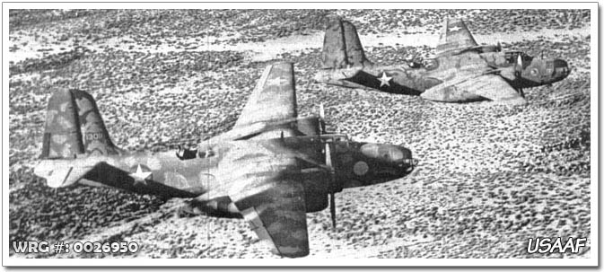 A-20B Havocs of the 47th BG over North Africa.